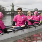 Lancashire Telegraph: Ore Oduba, Harry Judd and Vernon Kay are making a splash in the first Celebrity Boat Race