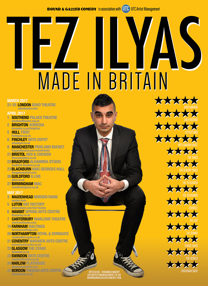 Tez Ilyas Made in Britain Tour 2017