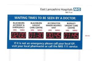 SIGNS: Waiting times will be put on signs approaching the Royal Blackburn Hospital