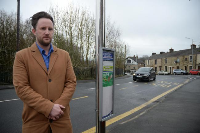 SPEEDING: Glen Harrison at Stanhill Lane, Oswaldtwistle where he is worried about speeding