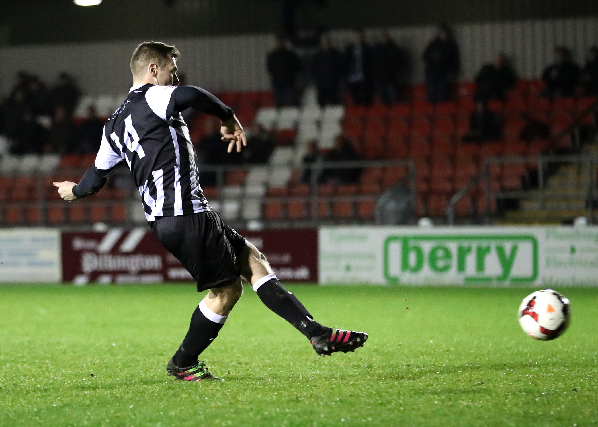Jake Cottrell misses the decisive penalty during Chorley's semi-final shootout loss