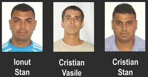 JAILED: Ionut Stan, Cristian Stan and Cristian Vasile