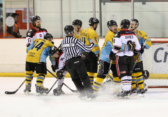 Action from Hawks v Sting last weekend