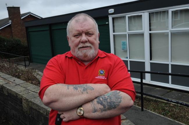 Tony Hayes outside the old Pike Hill Library in Burnley. The Veterans Association are set to take over the former library site