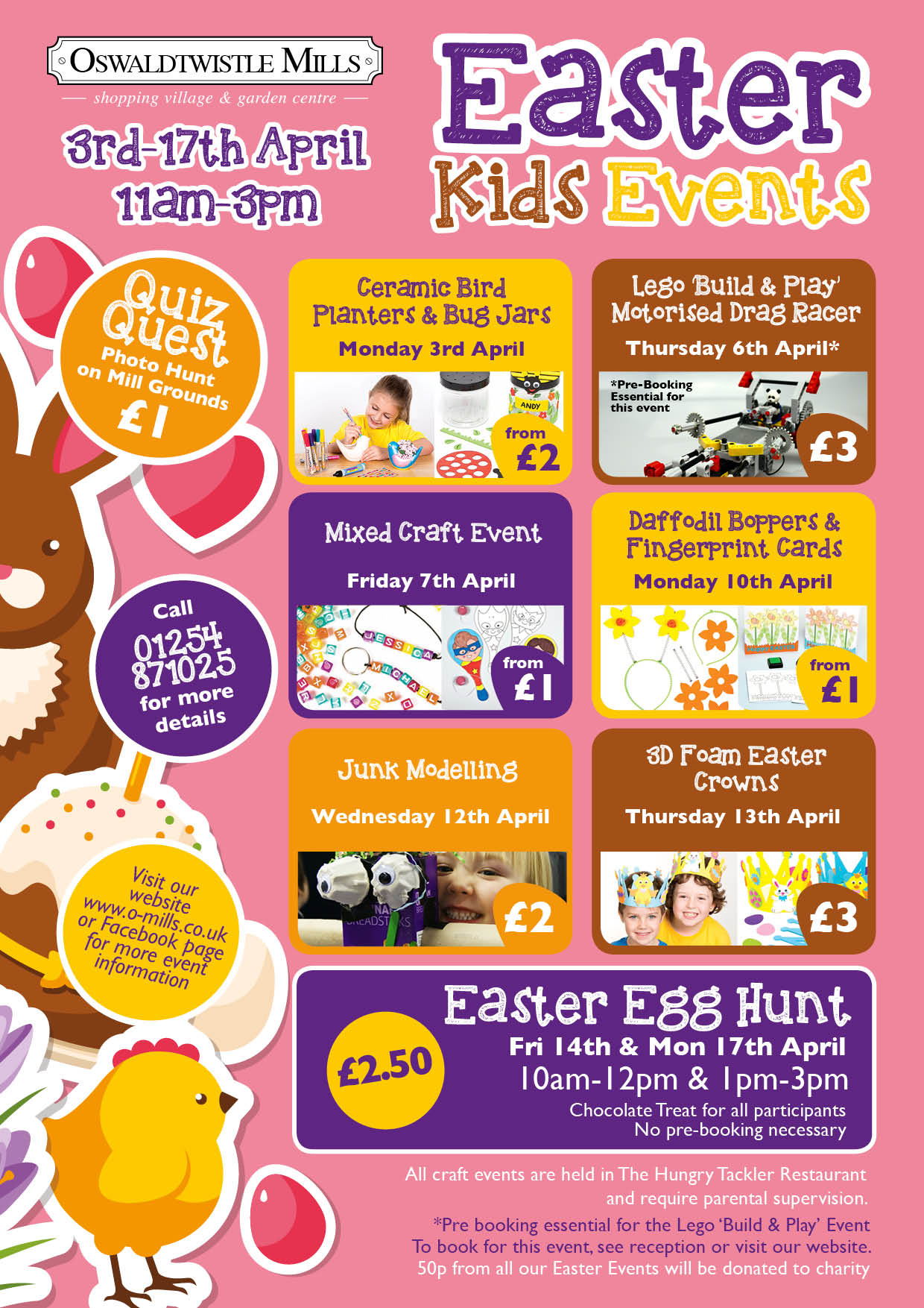 Easter Kids Events at Oswaldtwistle Mills