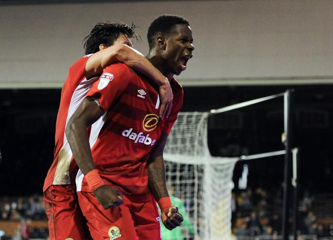 IMPACT: Blackburn Rovers' Lucas Joao celebrates scoring his side's late equaliser against Fulham