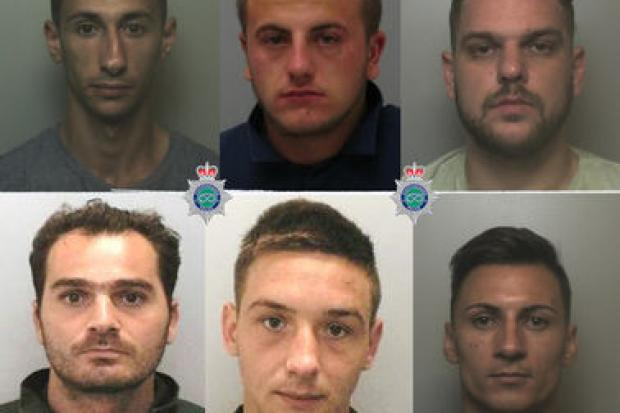 Six men jailed for    years after Blackburn Mall jewellery robbery