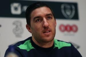 PRESSURE: Stephen Ward speaks to the media at Ireland's training camp