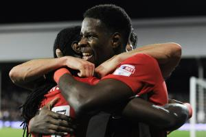 FRIENDSHIP: Lucas Joao and Marvin Emnes have built up a bond on and off the pitch at Blackburn Rovers