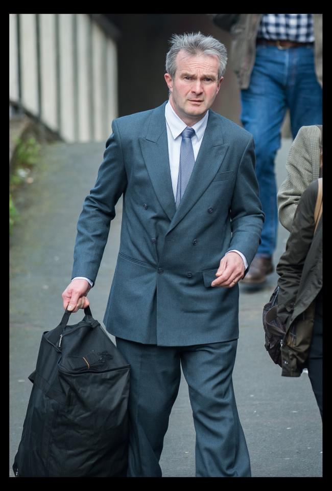 Photograph by Peter Powell.  28-03-2017..This is Dr John Coffey at Preston Crown Court after receiving a 15 month suspended sentence for defrauding the NHS..