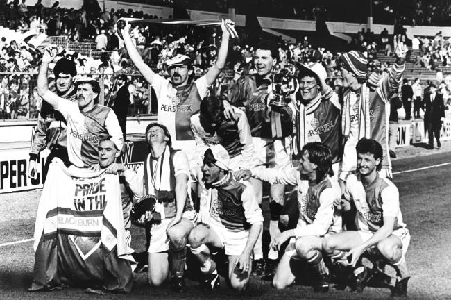 Rovers celebrate their Full Members Cup win at Wembley
