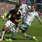 Lancashire Telegraph: BATTLE: Andre Gray tries to get the better of Daley Blind