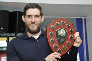 Danny Graham with his award