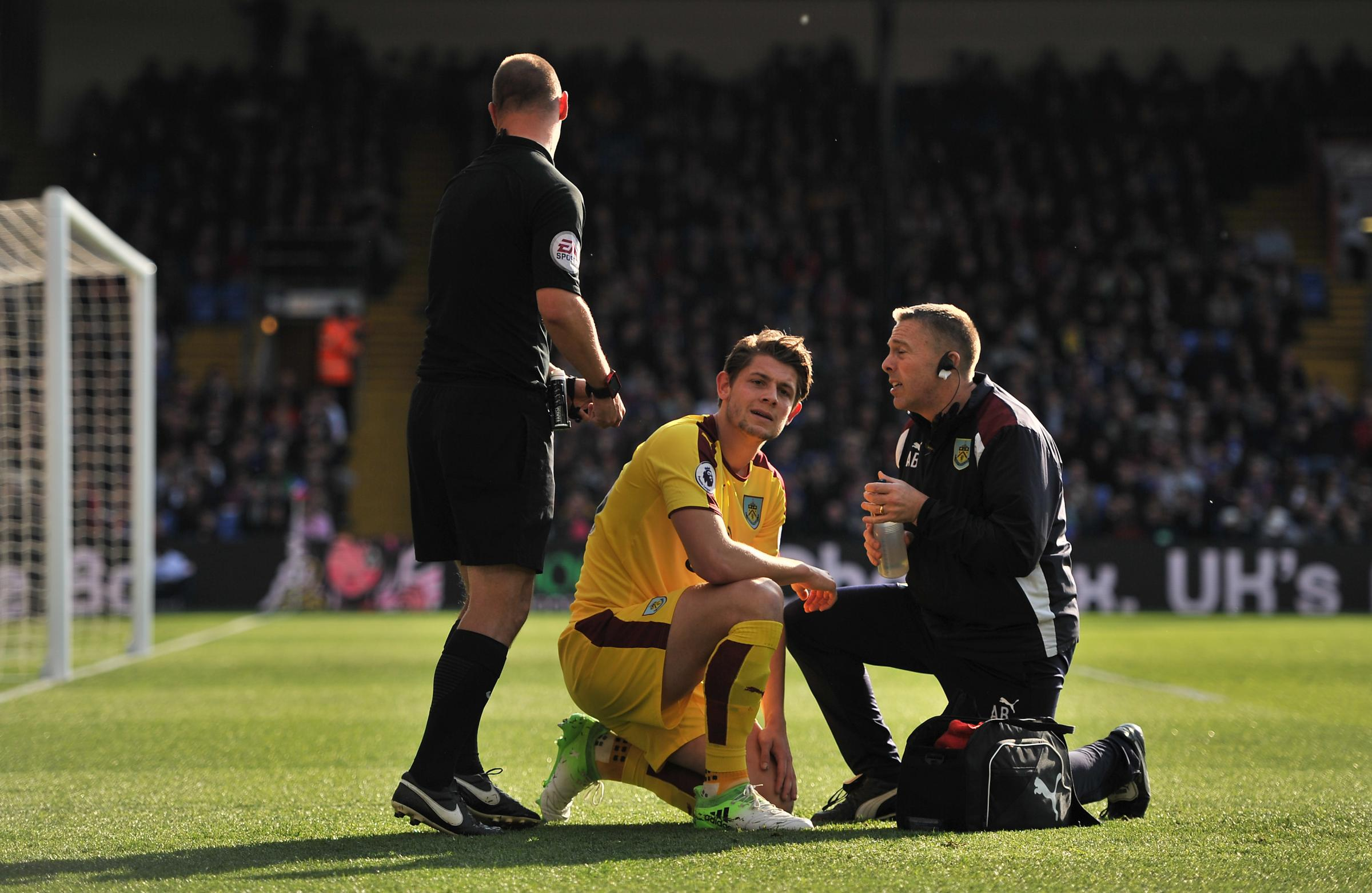 James Tarkowski was hit by a lighter in Burnley's 2-0 win at Crystal Palace last season, a game which saw the defender make his first Premier League start