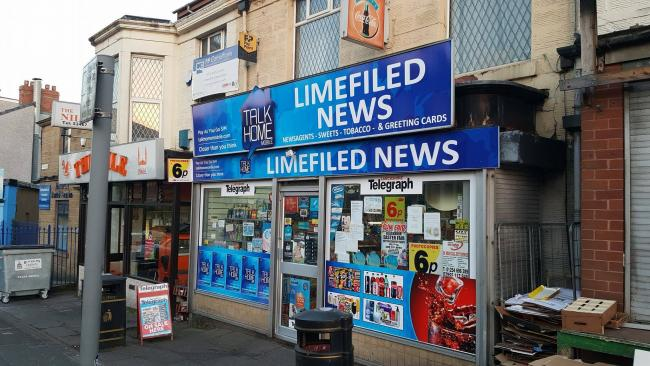 Did you spot the mistake blackburn shops name spelt wrong in new sign limefield news in preston new road blackburn with the incorrect limefield reheart Choice Image