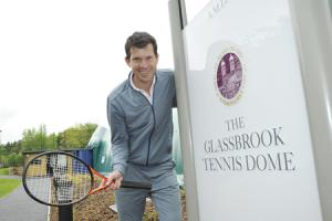 TENNIS: Tim Henman officially opens the new Glassbrook tennis dome at Stoneyhurst College.Tim Henman outside the Glassbrook tennis dome at Stoneyhurst College.