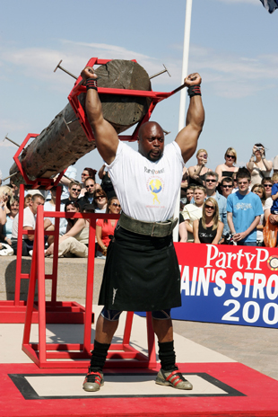 Mark Felix competing in the Britain's Strongest Man competition.