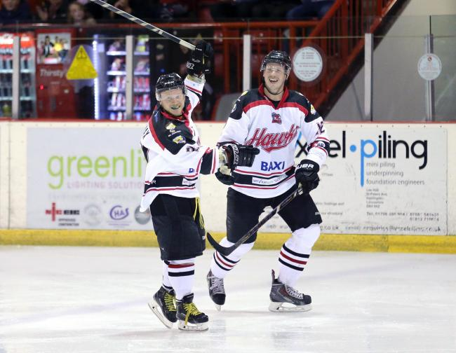 Ollie Lomax, left, has signed on at the Hawks for 2017-18