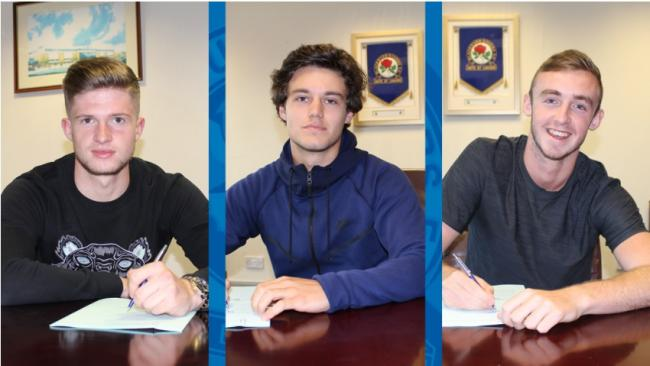 SIGNED UP: Academy trio Joe Grayson, Stefan Mols and Charley Doyle sign professional deals with Rovers
