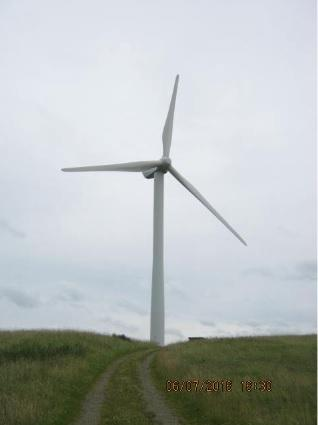An existing nearby turbine of approimately 100m high