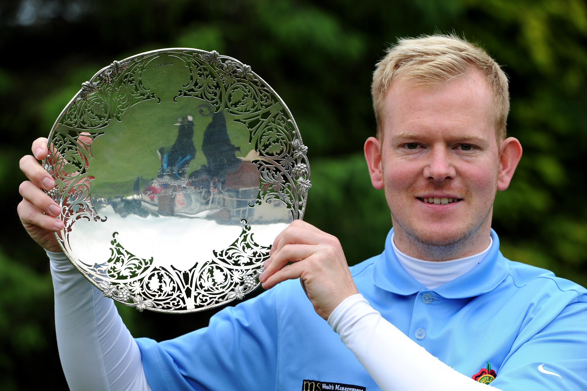 THIRD TIME LUCKY: Anthony Harwood celebrates his Harold Ryden Trophy win
