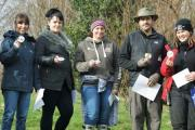 Members of the MyPlace project, run by Lancashire Care NHS Trust and the Lancashire Wildlife Trust