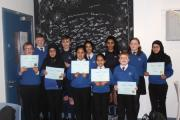 Students from Accrington Academy who completed the 'millionaire' challenge