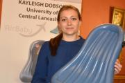 Kayleigh Dobson with her AirBaby design