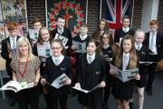 Fearns Community High School pupils with their newspaper