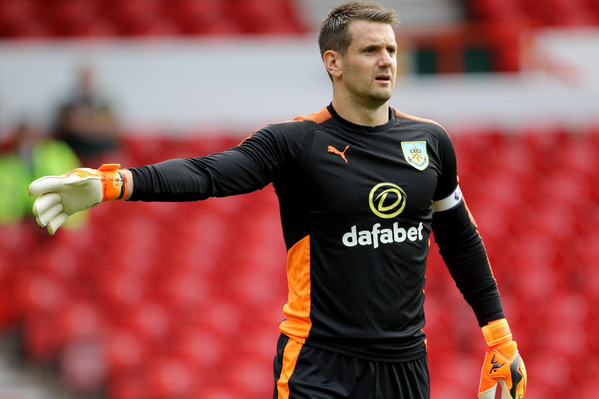 Burnley's Tom Heaton during the pre-season match at The City Ground, Nottingham. PRESS ASSOCIATION Photo. Picture date: Saturday July 29, 2017. See PA story SOCCER Norwich. Photo credit should read: Richard Sellers/PA Wire. RESTRICTIONS: EDITORIAL USE