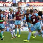 Lancashire Telegraph: CLOSE: Ben Mee heads just wide in the first half