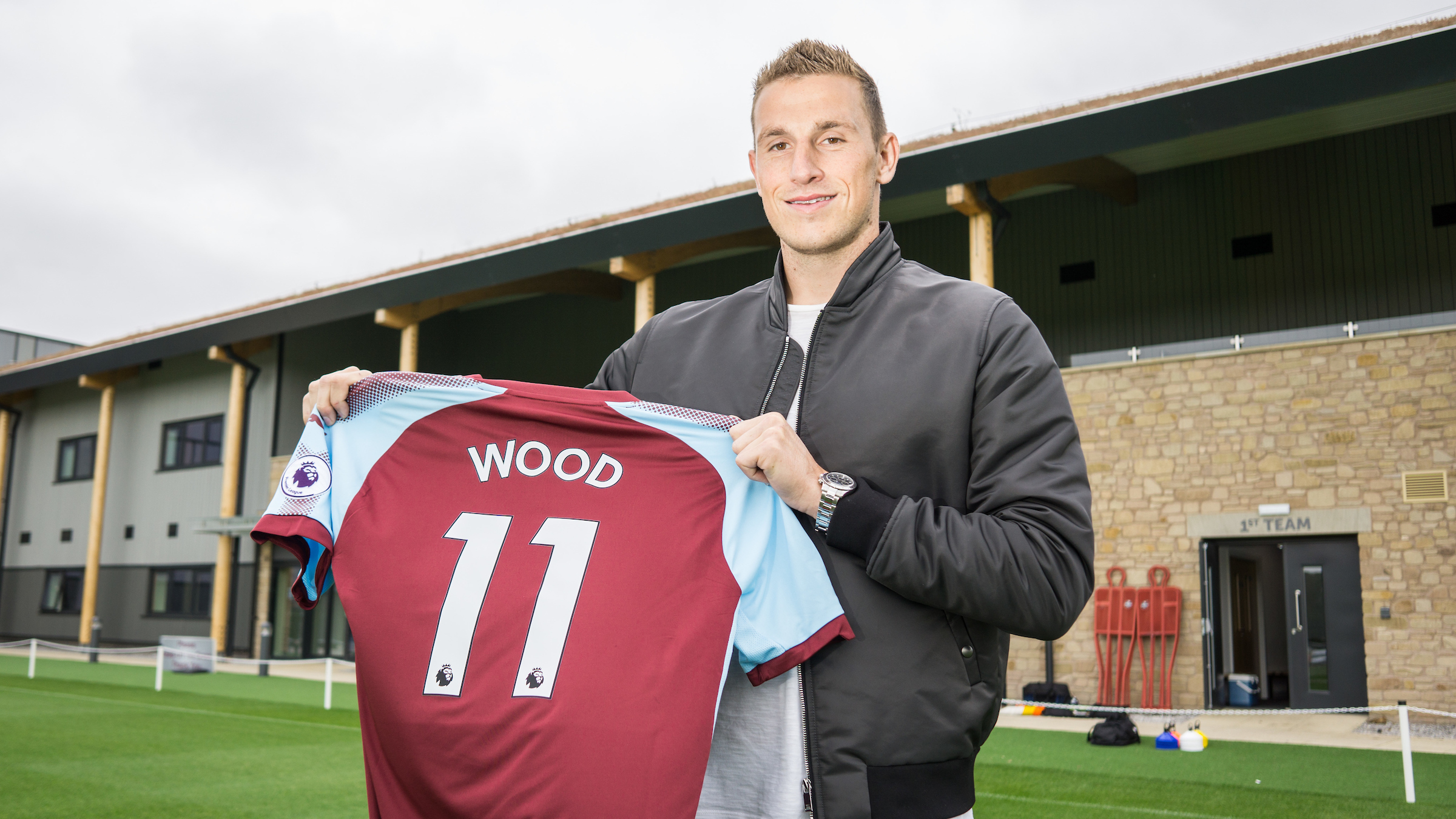 Chris Wood has joined Burnley on a four-year deal