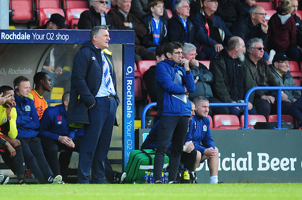 BACKING: Rochdale boss Keith Hill feels Tony Mowbray's Rovers will go on to win League One after win at Spotland