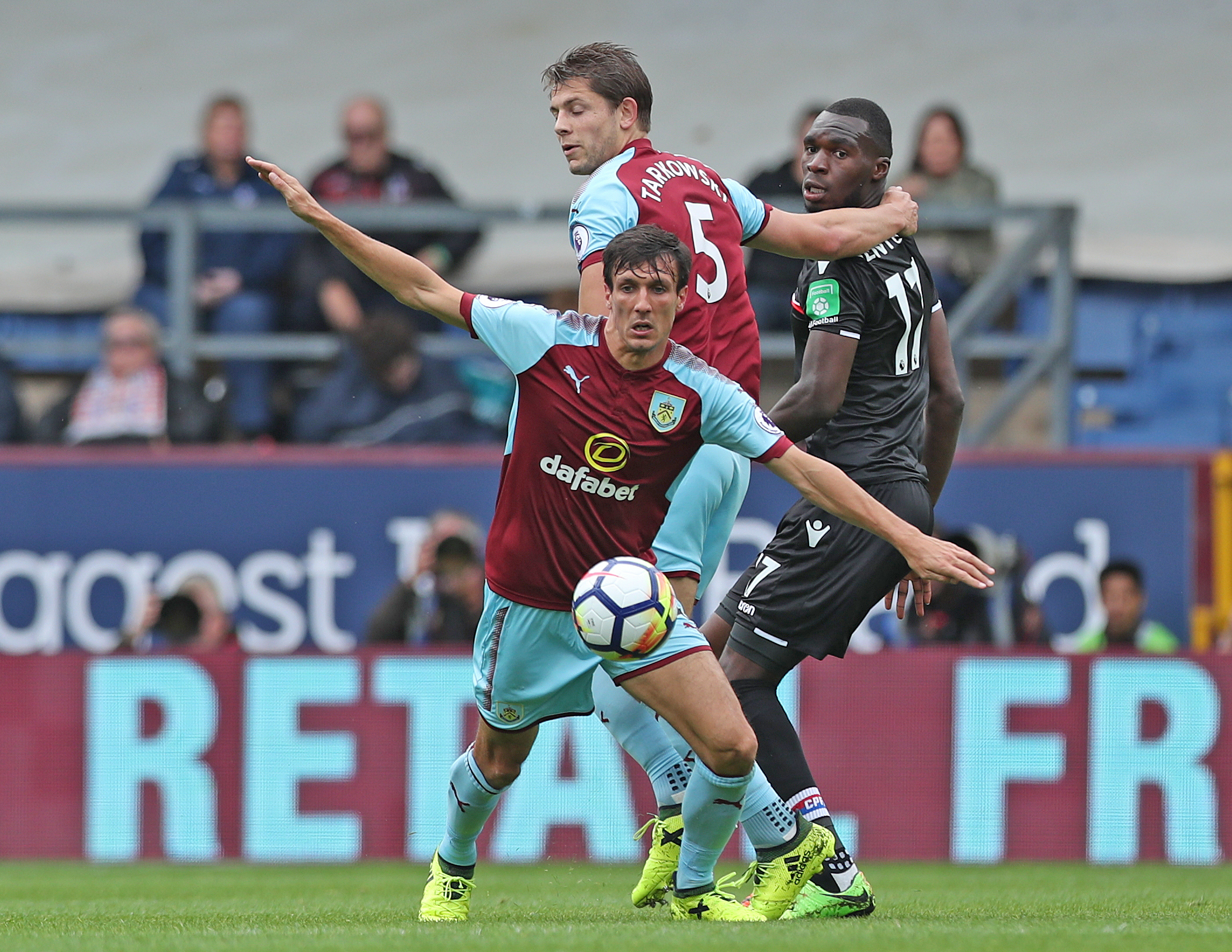 IMPRESSED: Jack Cork and James Tarkowski were two of the better performers for Burnley