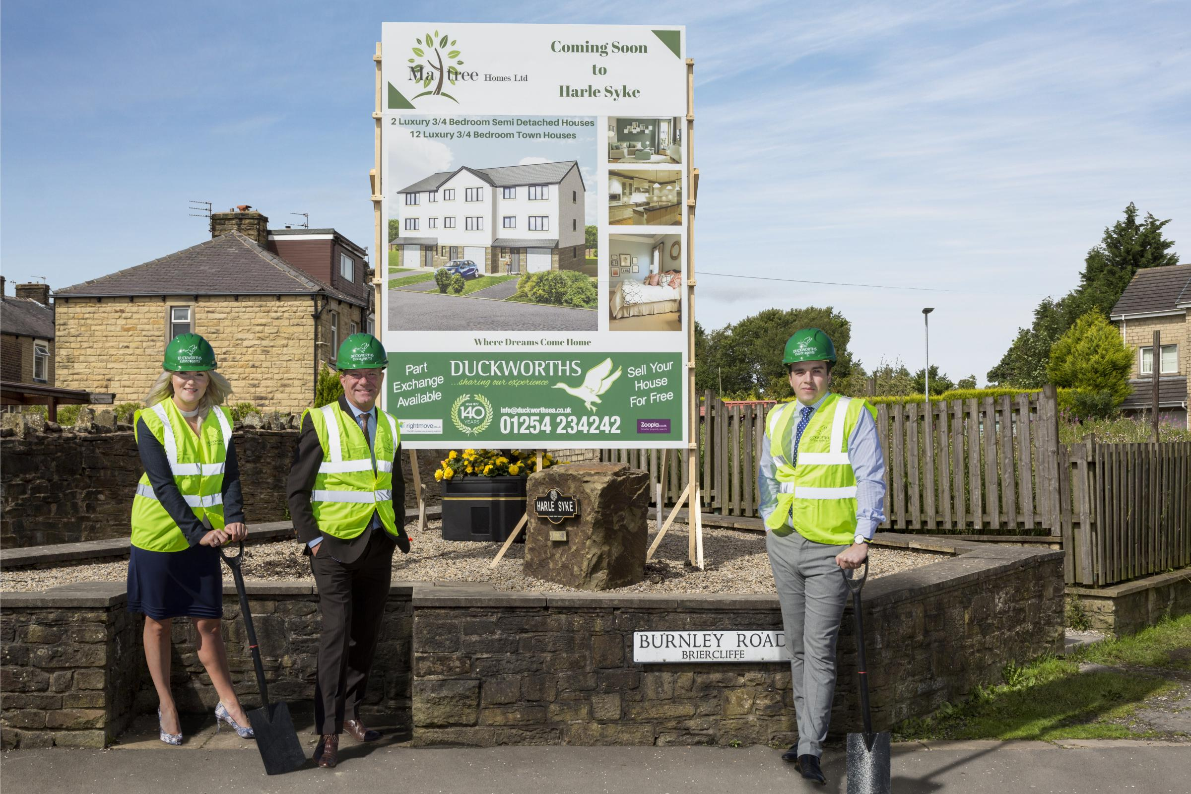 The development of 14 new homes is underway in Harle Syke, Burnley