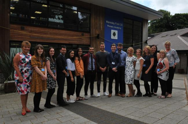 Associate teachers who have completed PGCE course at Wensley Fold School, Blackburn