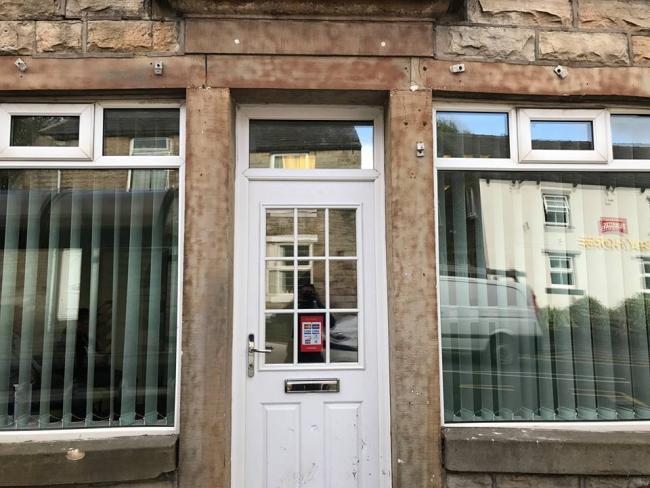 The repaired windows at Baxenden Dental Practice