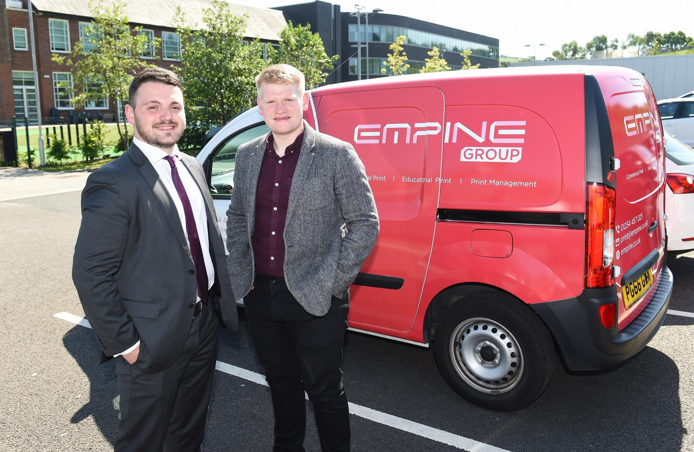 Anthony Taylor and Jacob Knowles of Empine Group, Darwen