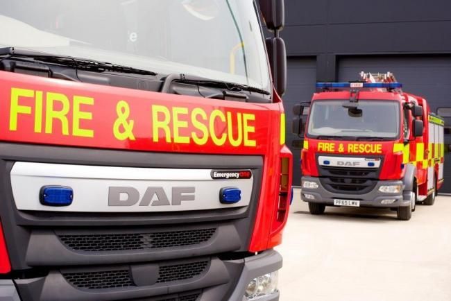 Fire crews attended a car fire in Oswaldtwistle