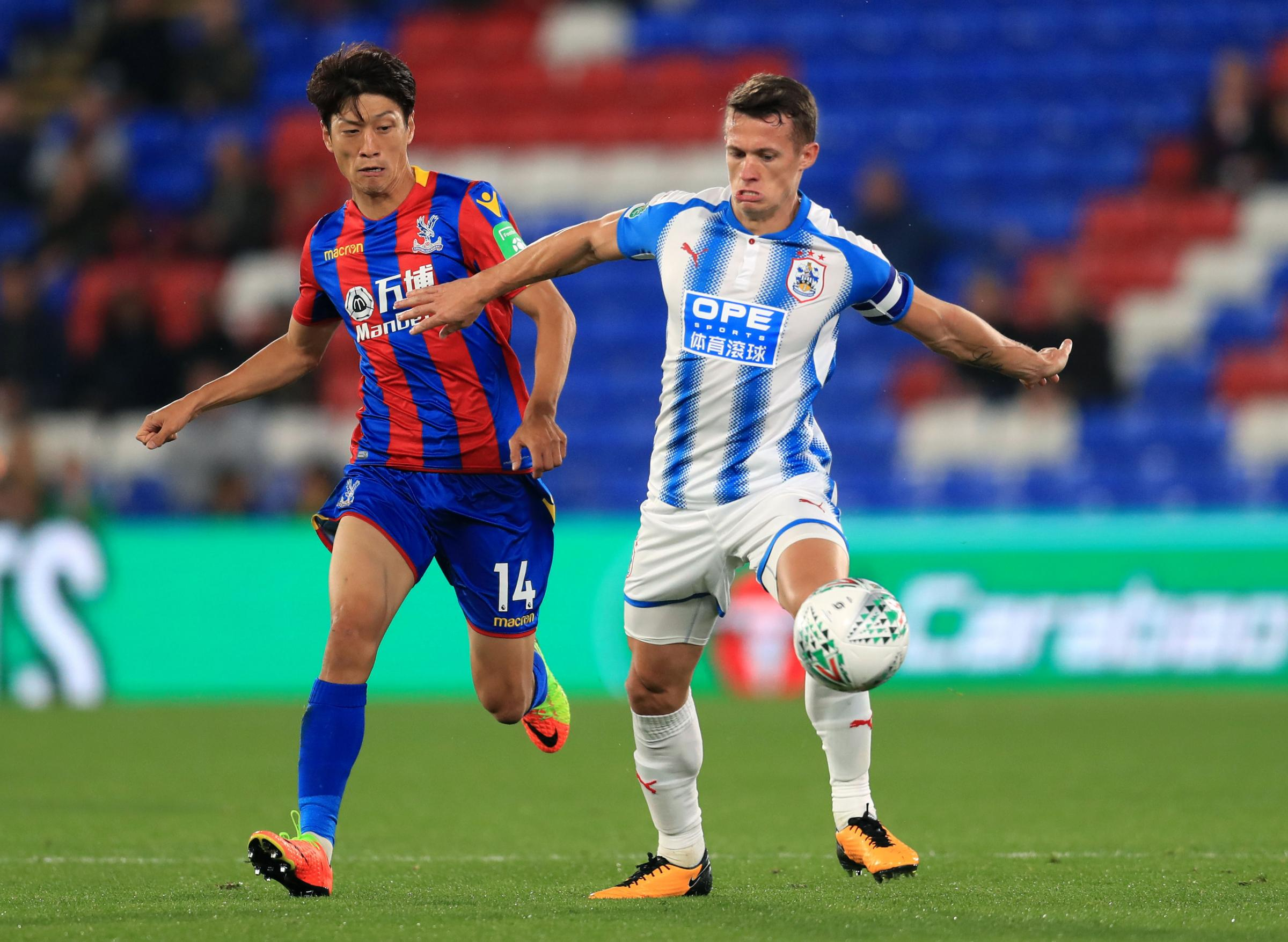 Jonathan Hogg in action for Huddersfield against Crystal Palace in midweek