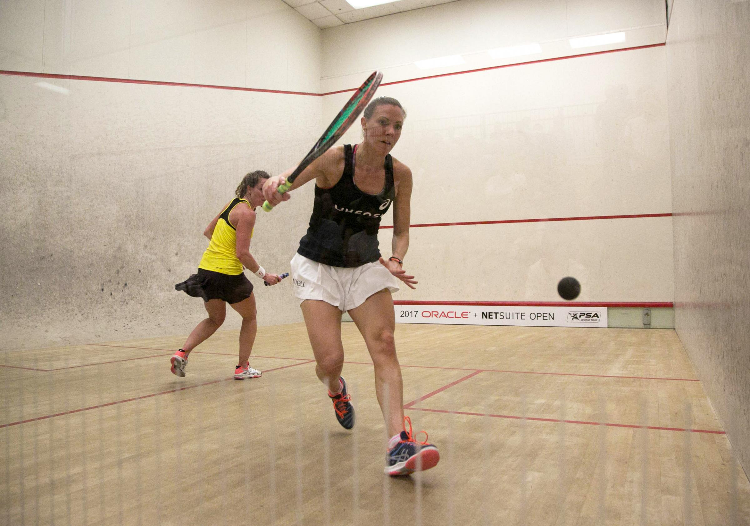 Laura Massaro in action in the San Francisco Open