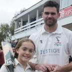 Lancashire Telegraph: England cricket ace James Anderson bowls over fans at Burnley President's Day