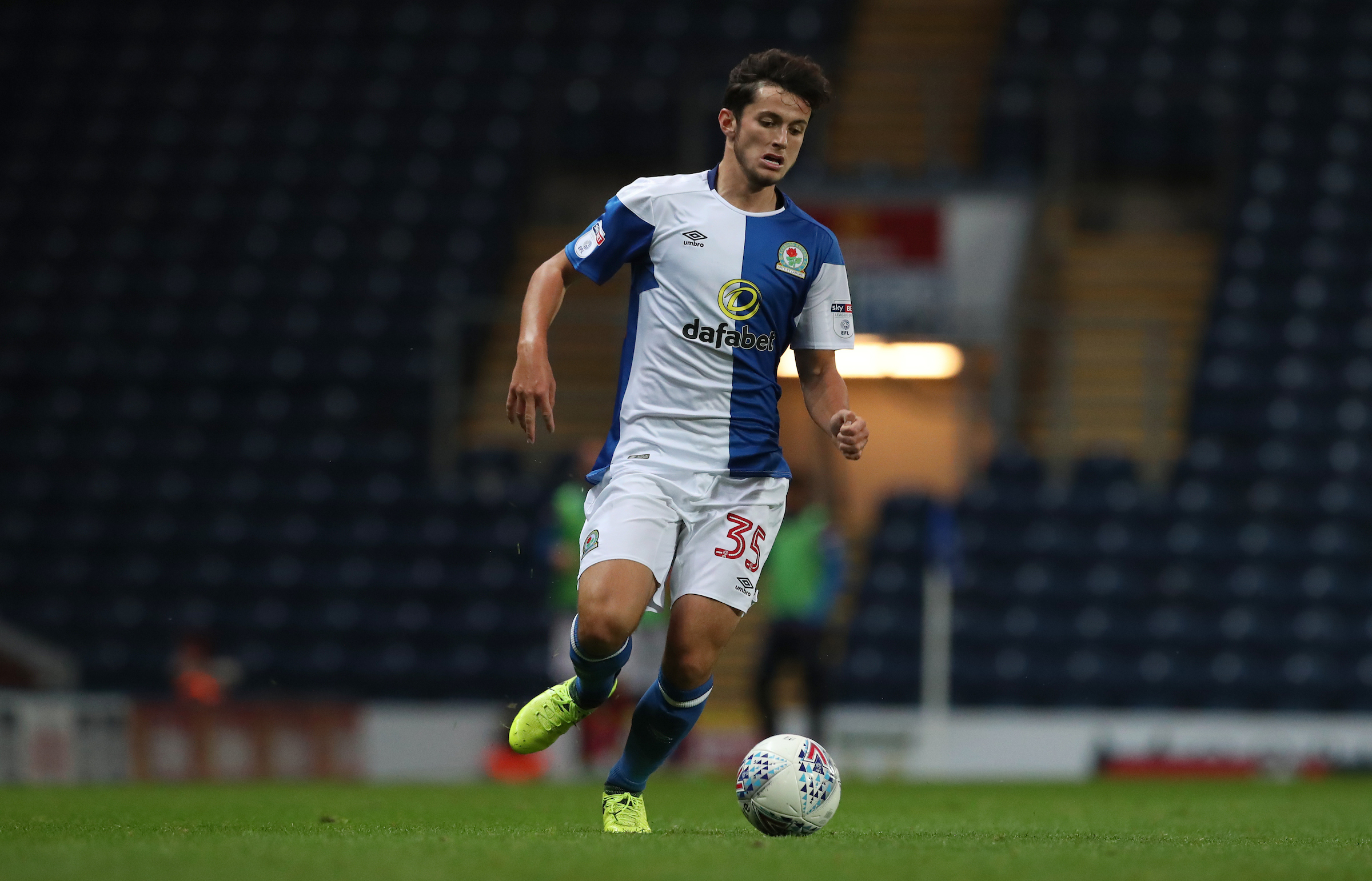 Lewis Travis was among the Rovers youngsters to feature in the Checkatrade Trophy win over Stoke City Under-21s