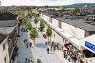 Artists impression of the new improvements to St James' Street Burnley