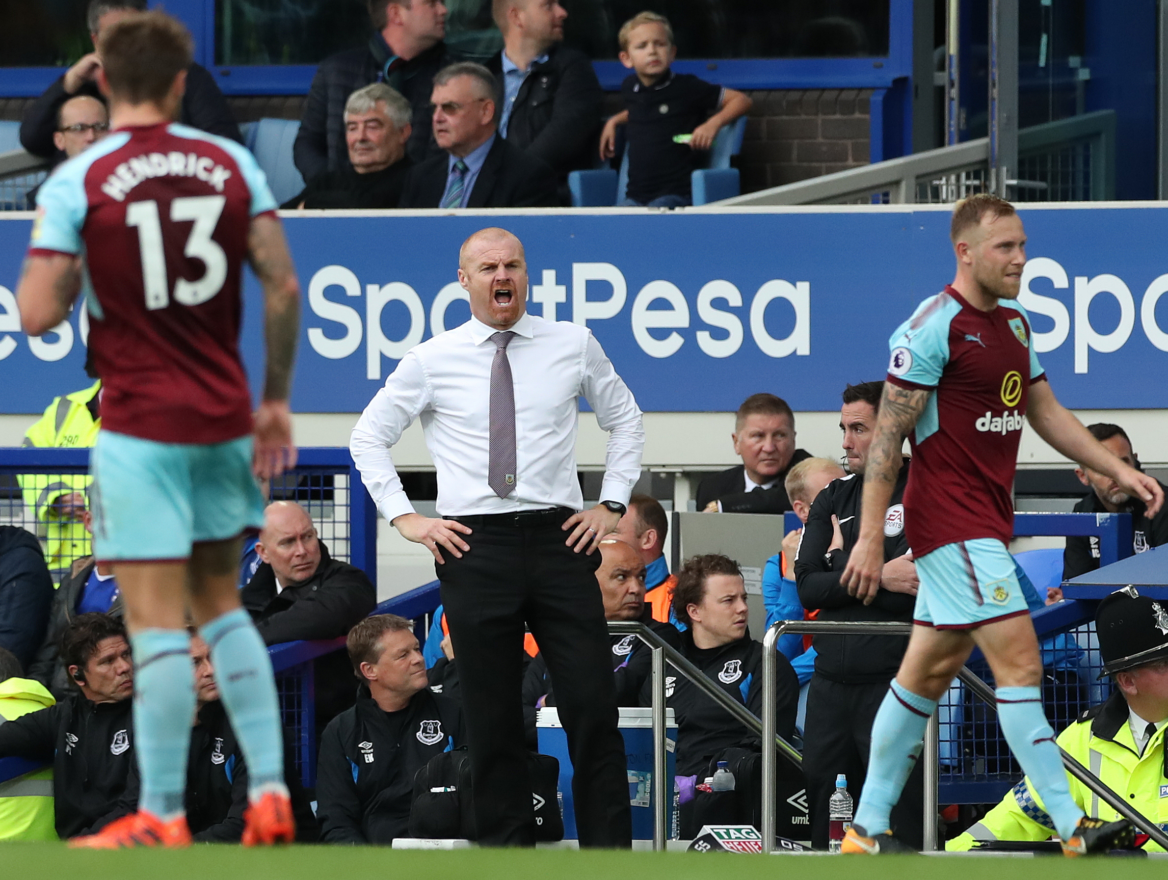 Sean Dyche believes his side look more assured in places such as Goodison Park