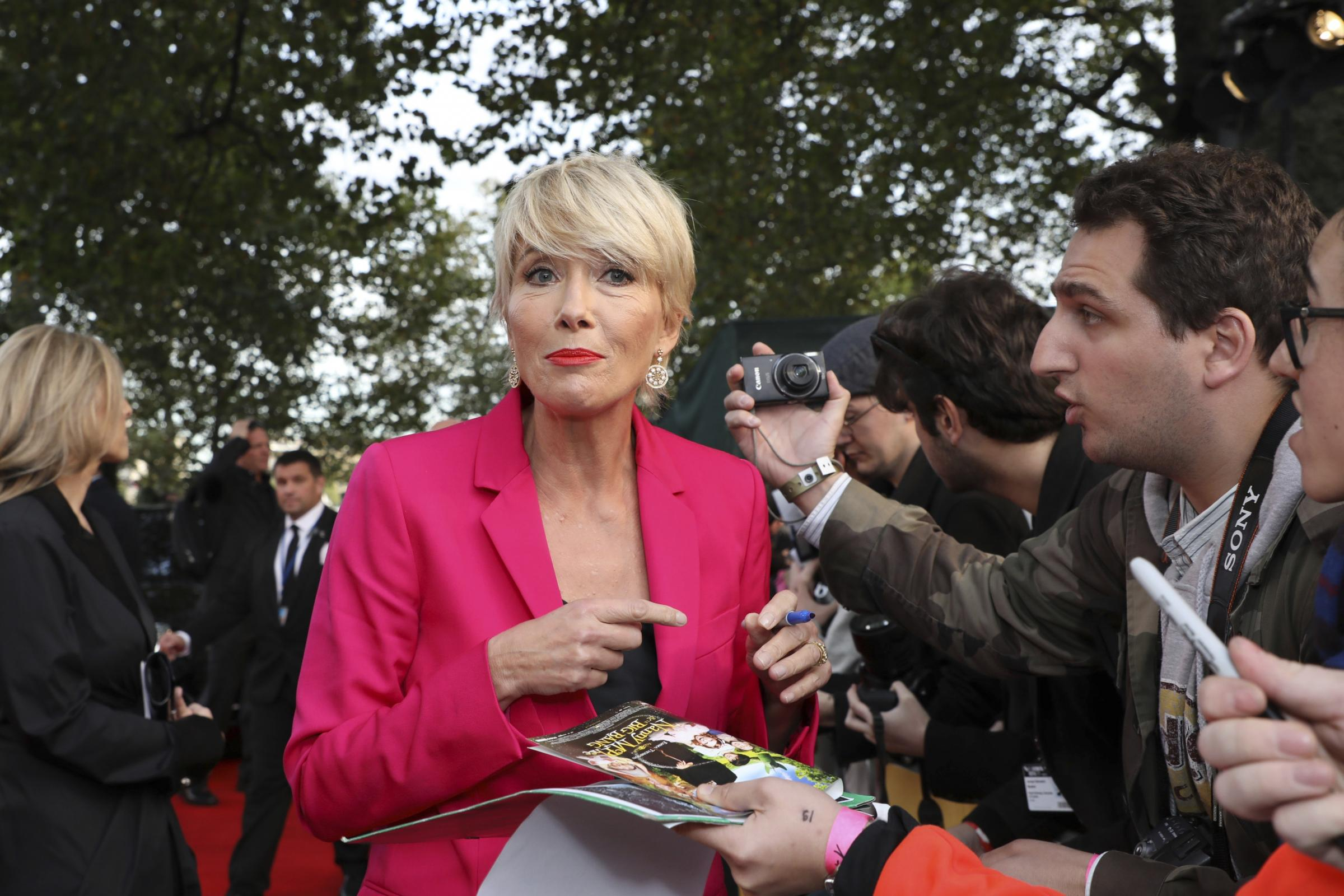 Emma Thompson: I want to hold on to being a rock and roll chick (Vianney Le Caer/AP/PA)