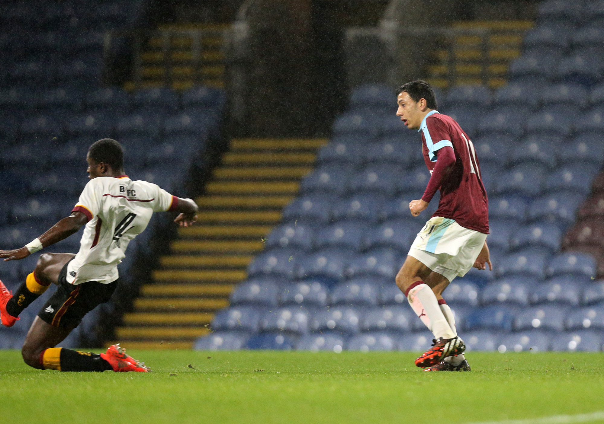 Dwight McNeil scored twice for Burnley Under-23s against Huddersfield