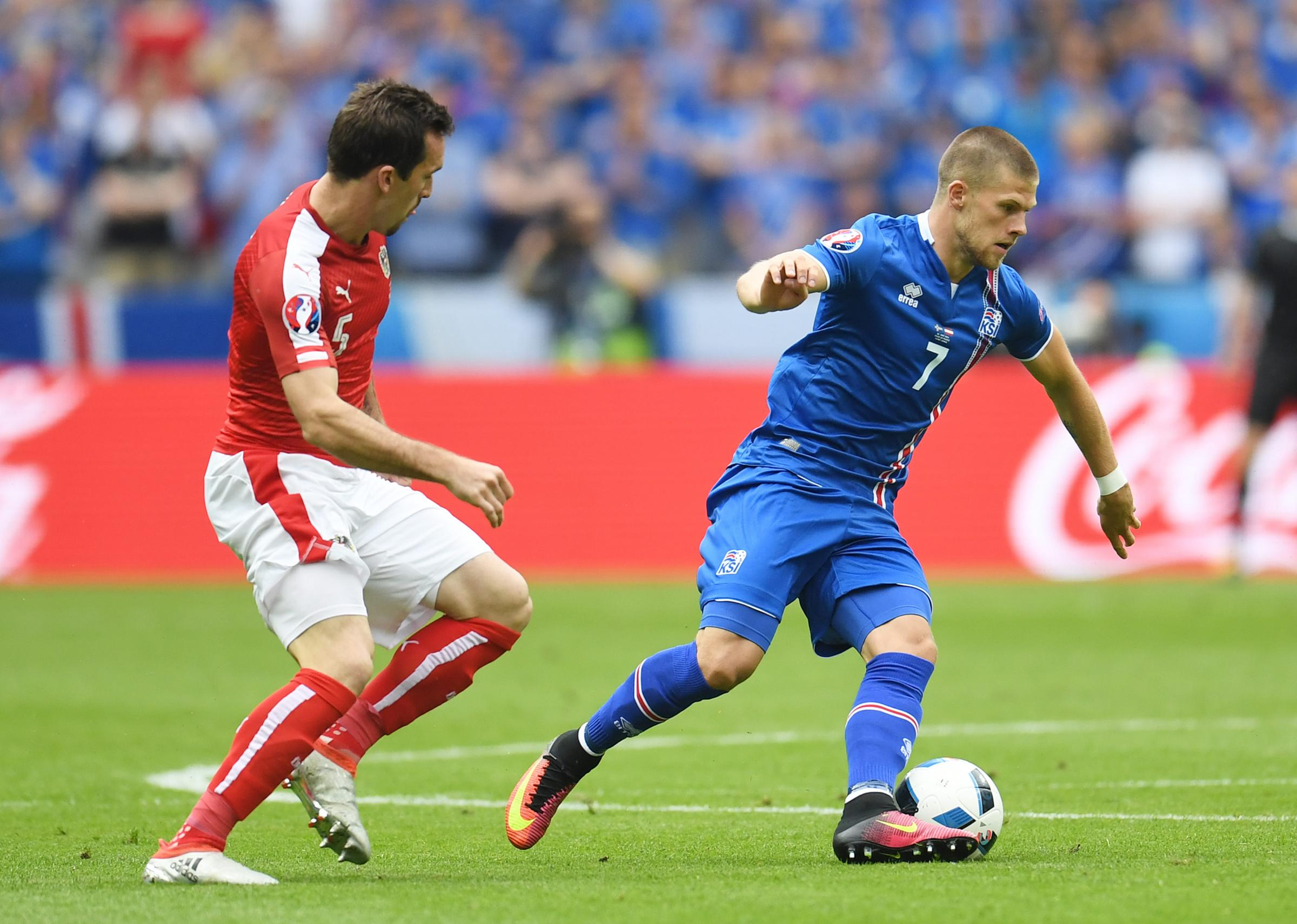 Iceland winger Johann Berg Gudmundsson is on his way to the World Cup