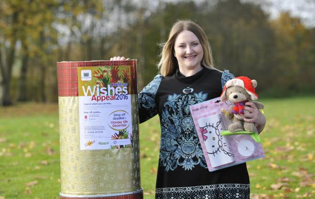 Helen Smith, Projects Co-Ordinator at SAMS launches the Christmas Wish Appeal last year