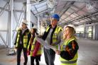 Staff from Thwaites were given a tour of the the new Thwaites Brewery, Sykes Holt, Mellor Brook